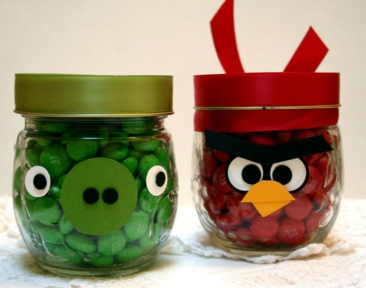 Angry Birds candy jars - Sleepy in Seattle