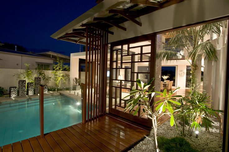 Chris clout design tropical resort style modern house in - Interior home design for small houses ...