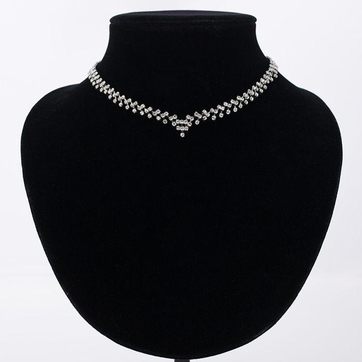 2016 цена от производителя новые благородные кристалл ожерелья горный хрусталь кристалл ювелирного свадьбы для женщин лучший подарок для ну вечеринку N055 купить на AliExpress