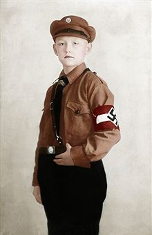 A member of the Hitler Youth (Germany). Ca. 1930. Coloured photograph. Pin by Paolo Marzioli