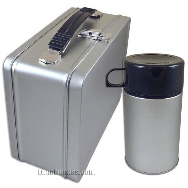 Plain Metal Lunch Box and Insulated Bottle | Lunchbox.com