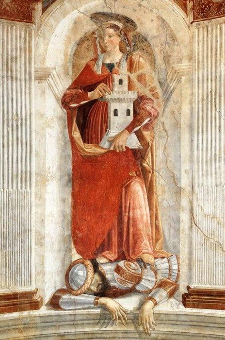 Domenico Ghirlandaio, St Barbara, 1471 | Painting - ITALY ...