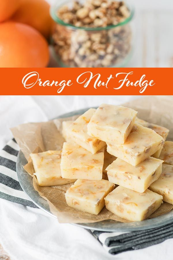 Orange Nut Fudge-A rich and creamy fudge with lots of orange and citrus flavor. This vintage candy recipe appears in the Imperial Sugar 125th anniversary cookbook. Originally published in 1968, this delicious sweet treat recipe stands the test of time. This dessert makes a great addition to a party or celebration but is also a fun gift to give; especially around the holiday season.