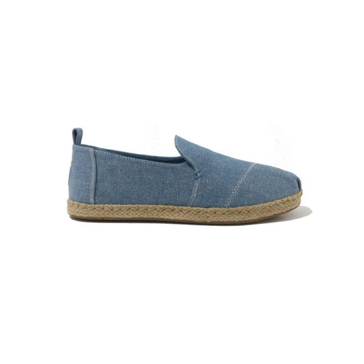 Chaussures TOMS Femme Slip-On Chambray Bleu . Espadrilles Femme