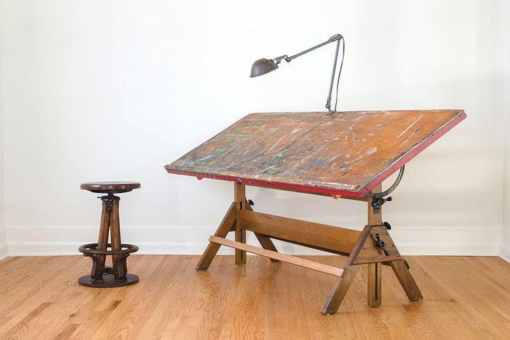 Awesome Vintage Industrial Hamilton Art Studio Drafting Table   Homestead Seattle    Pinterest   Drafting Tables, Vintage Industrial And Art Studios