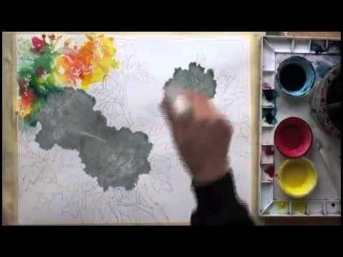 Lian Quan Zhen Painting Peonies