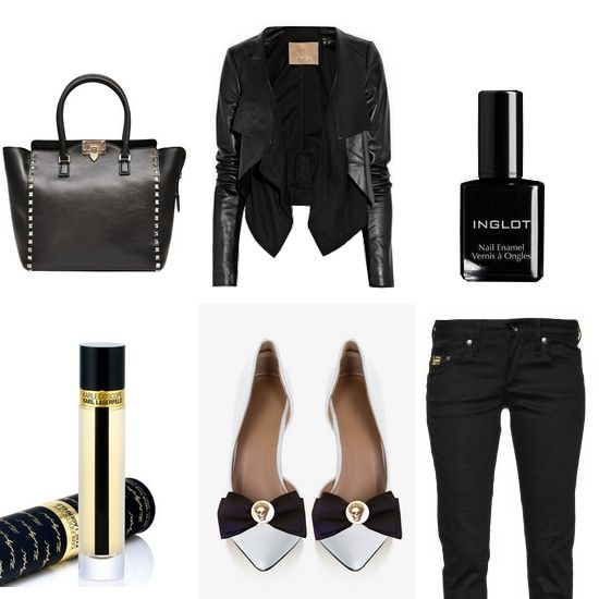 Black rock outfit. Shoe clips made by broshka.pl