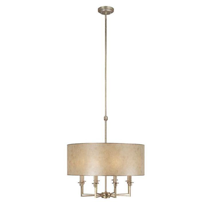 Capital Lighting 3938-475 Luna 8 Light 1 Tier Drum Chandelier Winter Gold Indoor Lighting Chandeliers