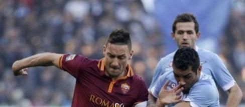 Francesco Totti nel derby di marzo 2014