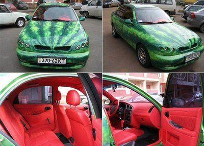 watermelon car!