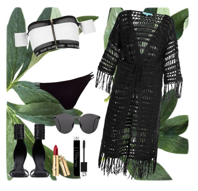 """Untitled #199"" by finderskeeper on Polyvore featuring River Island, Melissa Odabash, Rick Owens, Illesteva and Christian Dior"