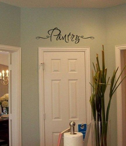 Pantry vinyl wall decal sticker for the kitchen by for Kitchen colors with white cabinets with yosemite sticker