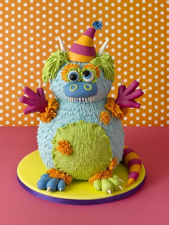 Cute monster cake by Elisa Strauss of Confetti Cakes