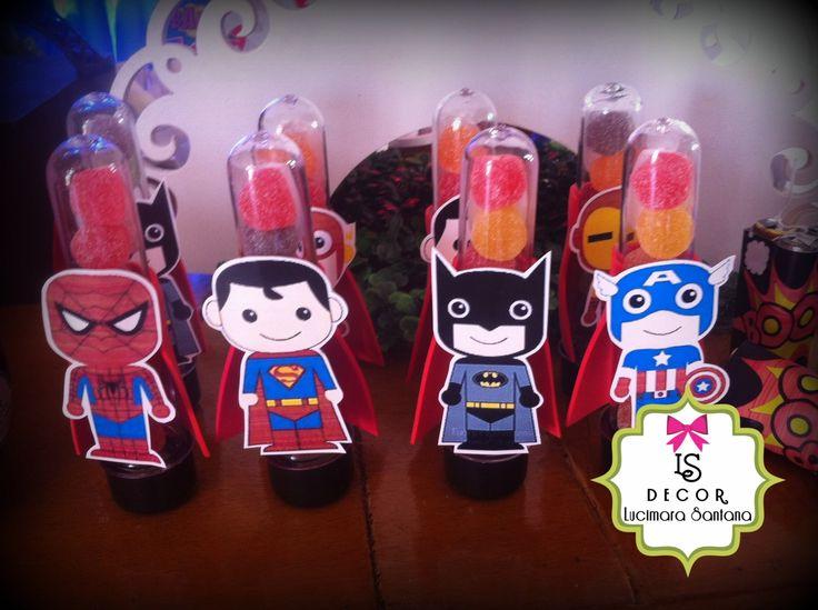 Tubetes Festa Super Heróis