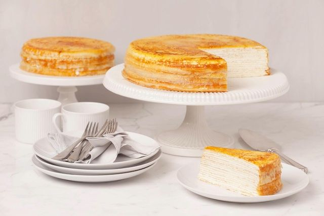 mile high crepe cake - Lady M bakery L.A.