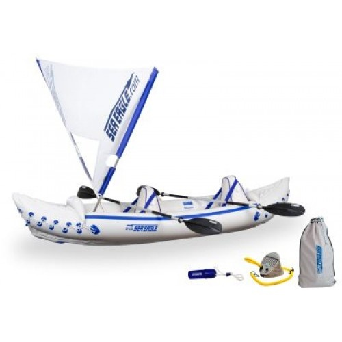 The SE-330 inflatable canoe packs down to fit in a storage bag, but has cargo space for camping supplies for several days. An inflatable canoe can be used for fishing, yacht tending or skin diving. For river runners, the Sea Eagle 330 can handle up to class three whitewater. In many ways, this is the easiest to use, the most versatile and the most fun inflatable canoe that we sell.