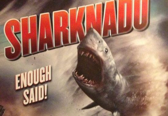 "Sharknado???? Uh Huh...well, i dont think i'd call this scary...more on the ""interesting"" side..."