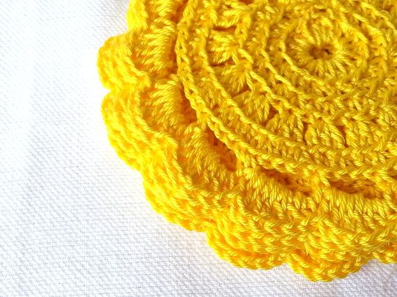 handmade coasters  set of 4 coasters  crochet by TheRainbowCrafts, €10.00
