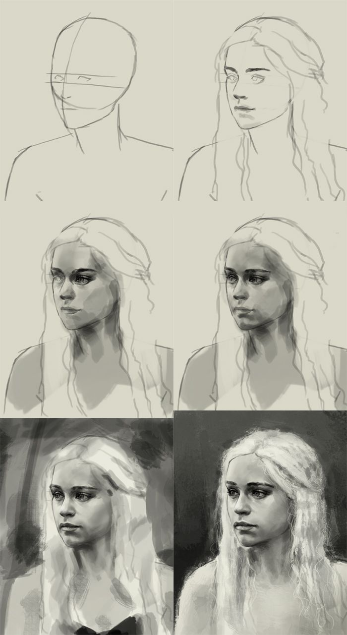 """how to draw daenerys targaryen"" | xia taptara"