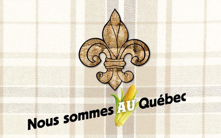 """Affiches de la Fête nationale du Québec 2014: """"Nous sommes AU Québec""""."""