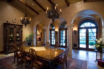 Mediterranean Dining Photos Design, Pictures, Remodel, Decor and Ideas - page 8