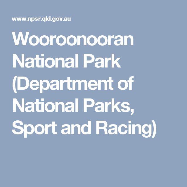Wooroonooran National Park (Department of National Parks, Sport and Racing)