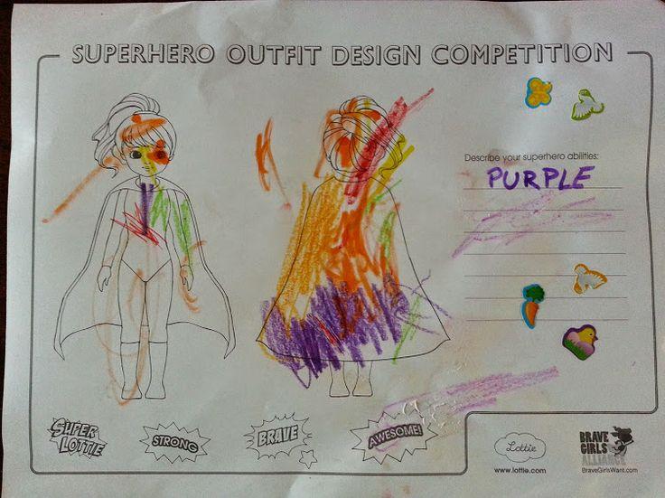Samantha, age 3, Santa Barbara, U.S.A. Superhero abilities: Purple