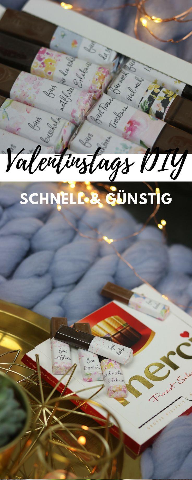 Valentinstag DIY für Merci Verpackung mit Merci Druckvorlage