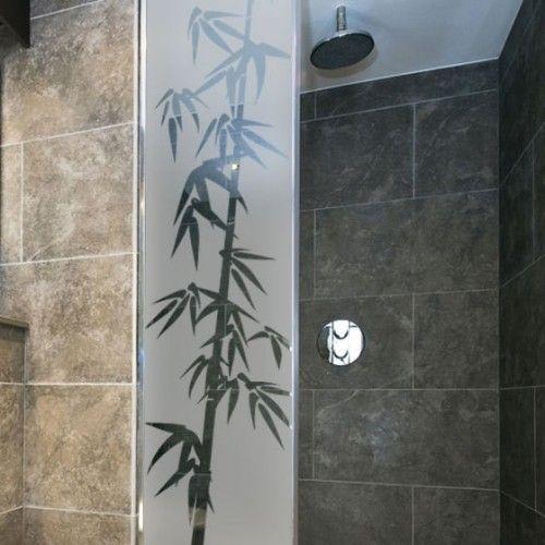Sticker de douche: Branches de Bambou