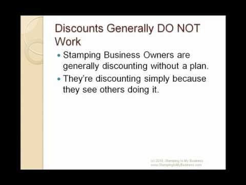 Does Discounting Product Make You Money? - It seems like every stamping business owner is discounting product these days. But are any of them making money? Is it even a good idea to discount? This video helps answer that question.