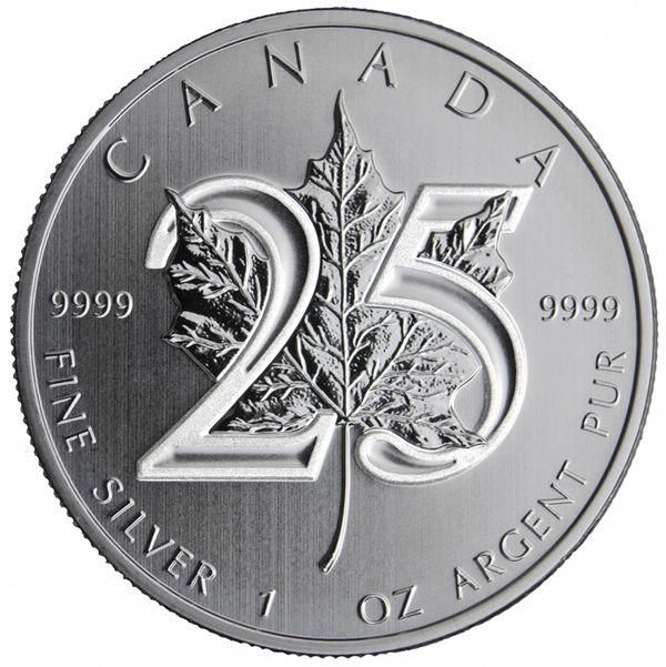 2013 25th Anniversary 1 Oz Canadian Silver Maple Leaf Ship 11 26 Goldbullion Silver Maple Leaf