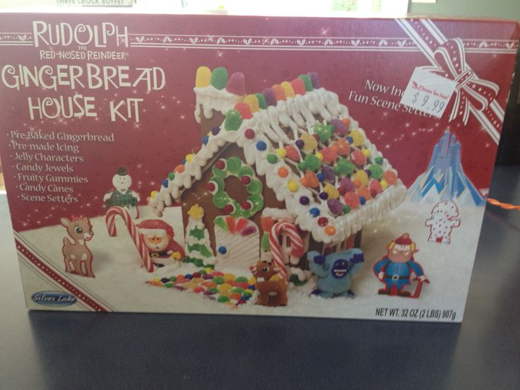 Create Your Own Rudolph The Red Nose Reindeer Gingerbread