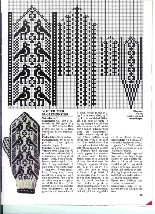 Norwegian 'Selbu' - patterns (Mittens)
