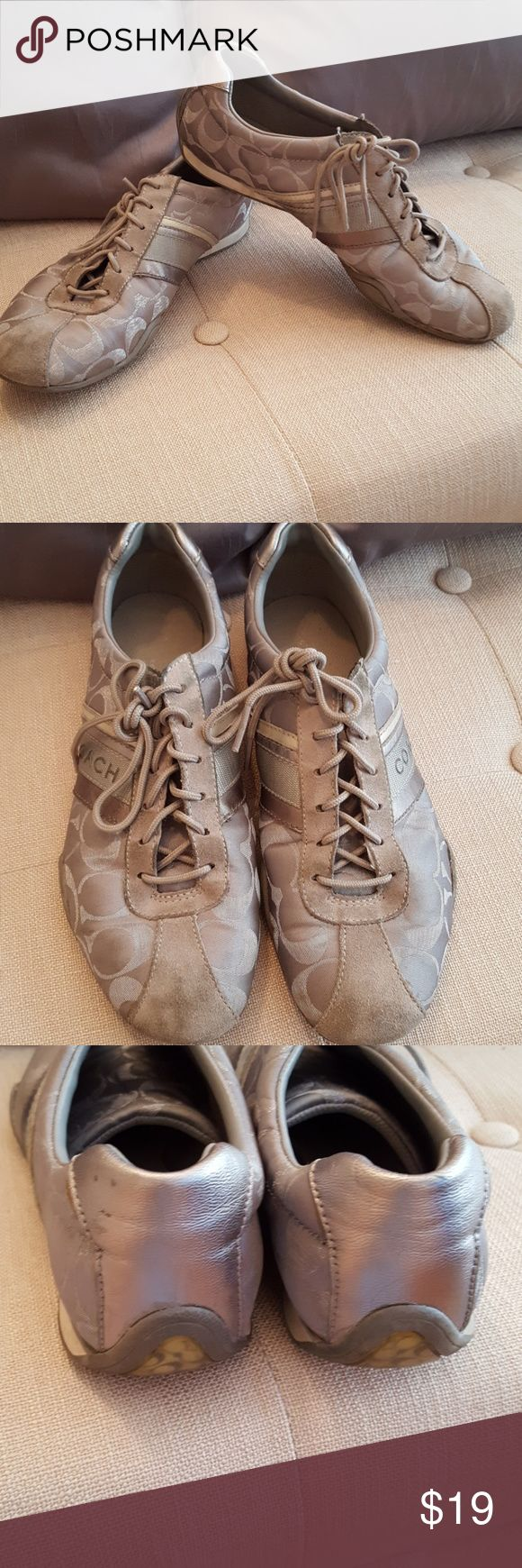 Coach tennis shoes Used condition, could probably be cleaned up with soap and water.  Open to offers! Coach Shoes Sneakers