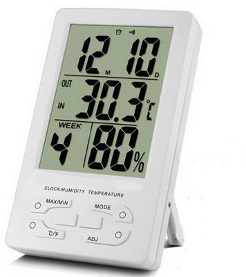 Indoor Thermometer Hygro and Clock TH96 - Digital Meter Indonesia