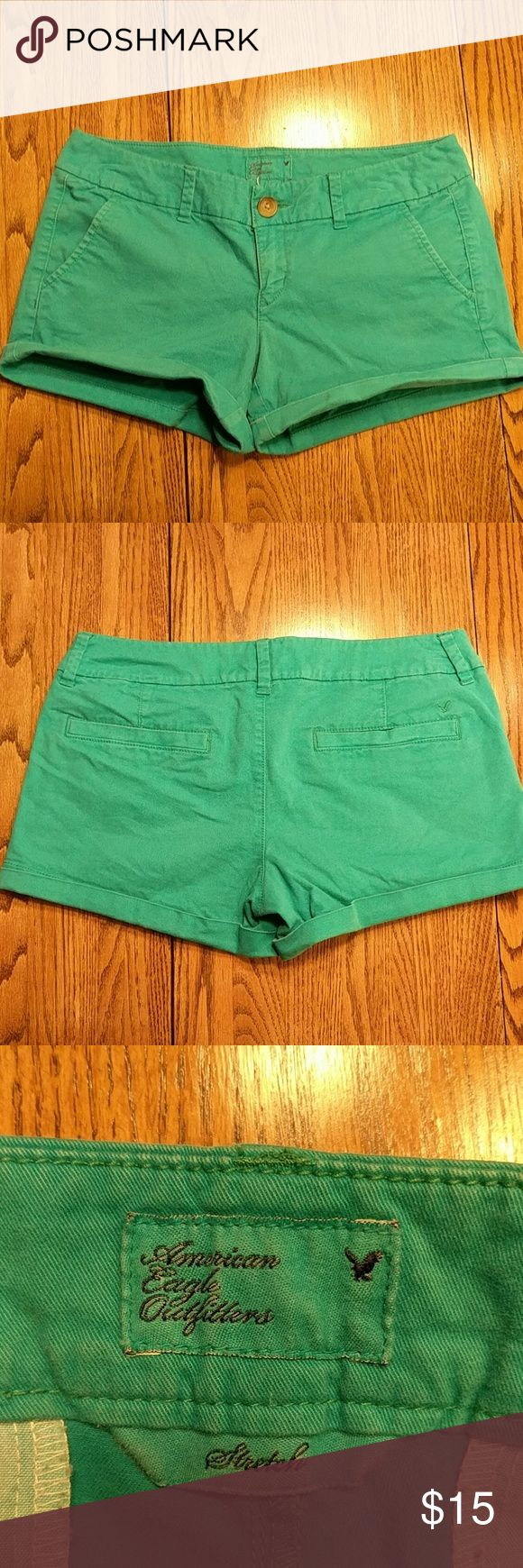 American Eagle turquoise shorts Gently used, great condition! American Eagle Outfitters Shorts