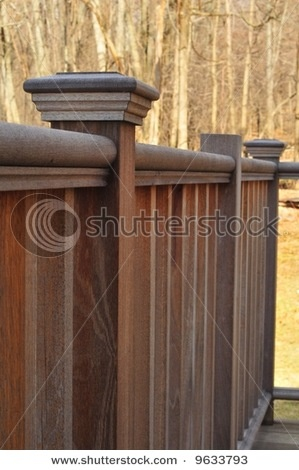 deck railing - pretty!