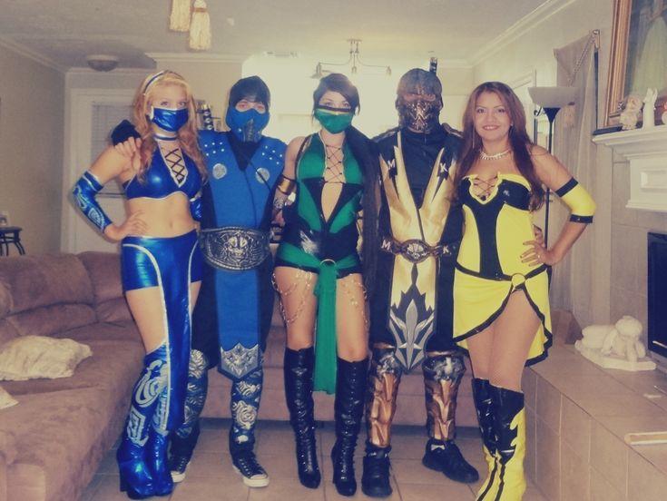 our 2013 halloween mortal kombat costumes from left to right kitana sub zero - Mortal Kombat Smoke Halloween Costume