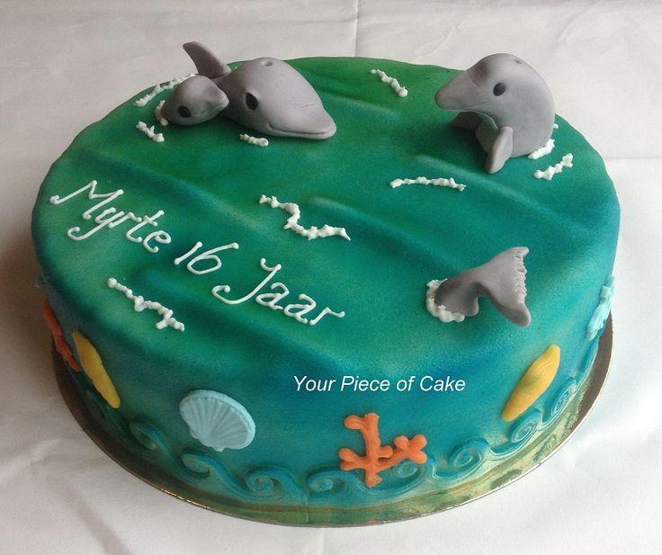 Verjaardagstaart Dolfijnen