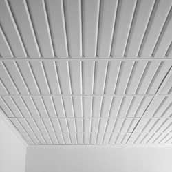 install southland waterproof ceiling tile white into a drop ceiling grid