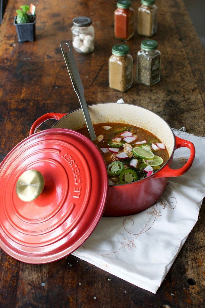 Spicy Lime Jalapeño Chicken Soup with Kale and White Beans Recipe from @holajalapeno