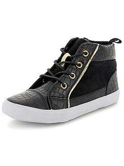 Zapatos, zapatillas - Zapatillas altas efecto serpiente - Kiabi