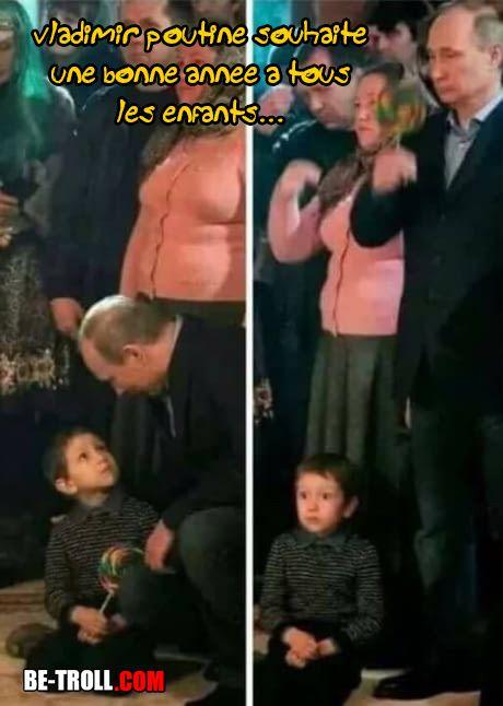 Vladimir Poutine souhaite une bonne année à tous les enfants ! - Be-troll - vidéos humour, actualité insolite