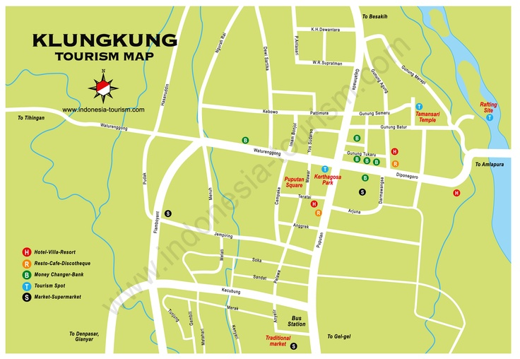 Klungkung - Map of Bali