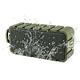#7: Samesay Wireless Bluetooth 4.0 Speaker IPX6 Waterproof Portable Outdoor Speakers With 10W Drivers Built in Mic 12H Playtime Sport Camping & Shower Device for iPhone 7/ 6/5 ipad Nokia Samsung (Green) #amazon #movers #shakers #electronics #photo