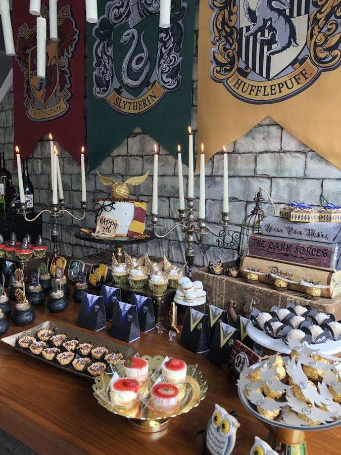 Candy bar tem tico de harry potter lleno de ideas para - Ideas decoracion bar ...