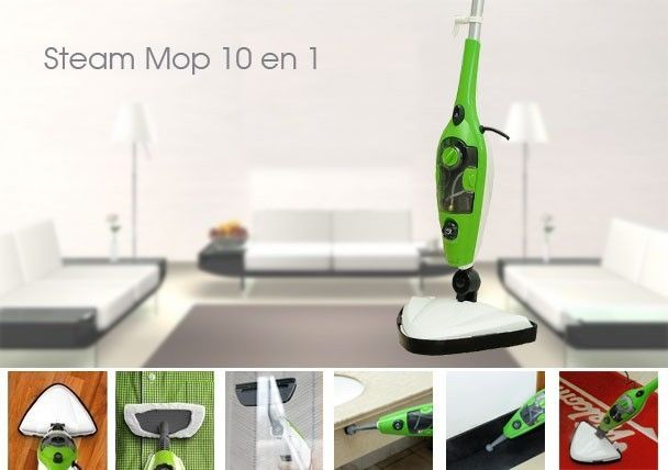 59.90$  Buy here - http://alil1r.worldwells.pw/go.php?t=32677496618 - Unique design 10 in 1 multiple function Steam Mop X10/Steam Cleaner/steam generator as seen on TV 59.90$