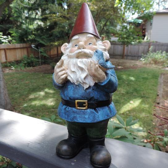 Garden Gnome Holding A Bird. Resin MaterialGarden GnomesHome Depot