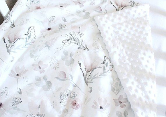 Magnolia Baby Girl Blanket Floral Crib Bedding Romantic Magnolia Baby Baby Girl Blankets Floral Baby Blanket