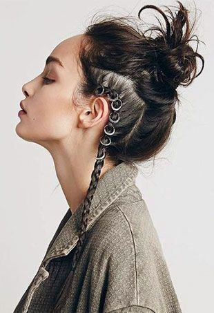 Hair piercing is this season's must-try hair trend, so we rounded up 10 festooned styles that will grab your attention.